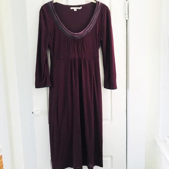 Boden Dresses & Skirts - Boden Sz 2 Purple Knit 3/4 Sleeved Dress